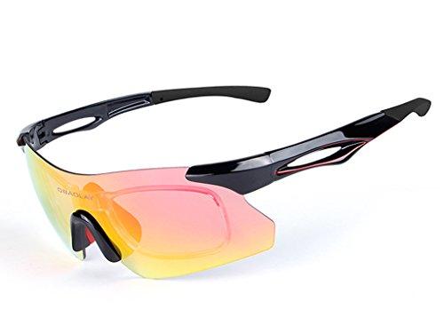Aili occhiali da sole sportivi con uv400 per uomini donne esterni sport pesca ski driving golf corsa ciclismo campeggio,a
