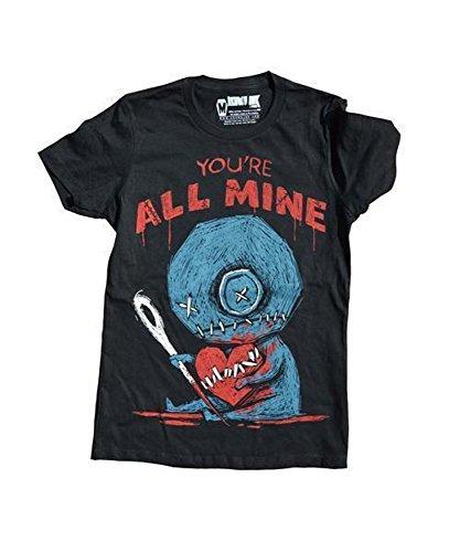 Akumu Ink Damen Premium Tattoo T-Shirt - You´re All Mine (Schwarz) (S-L) (M)