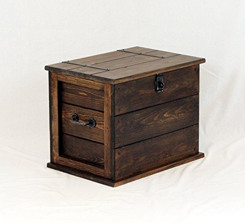 Handgefertigt Medium Kiefer massiv Kirche Eiche Farbige Trunk. Kofferraum/Spielzeug Box. Leinen Brust. Decke Box (Kiefer Decke-boxen)