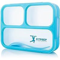 FITPREP Original Lunchbox I Meal Prep I Bento Box I 3 Fächer I Dicht - Jede Kammer untereinander I Spülmaschinengeeignet (Ohne Deckel) BPA Frei I Brotdose Kinder Frischhaltedose