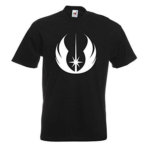 Kiwistar Jedi Orden T-Shirt in 15 verschiedenen Farben Herren Funshirt bedruckt Design Sprüche Spruch Motive Oberteil Baumwolle Print Größe S M L XL XXL Schwarz