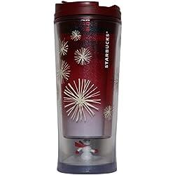 Starbucks 2015 Navidad Muñeco De Nieve Vaso Alto Rojo