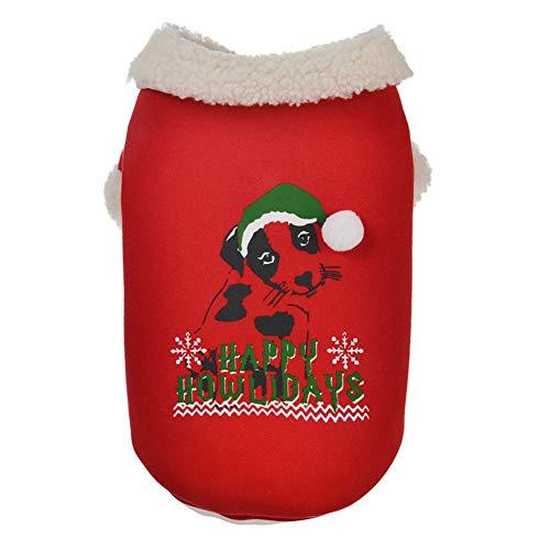 Austinstore Hundemantel Katzenbekleidung Hundejacke,Weihnachten Winter Schneeflocke Haustier Hund Welpe Baumwolle warme Kostüm Red XS (Schneeflocken Winter Kostüm)
