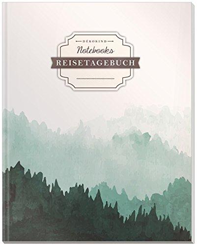 DÉKOKIND Reisetagebuch zum Selberschreiben   DIN A4, 100+ Seiten, Register, Vintage Softcover   Auch als Abschiedsgeschenk   Motiv: Canadian Forest