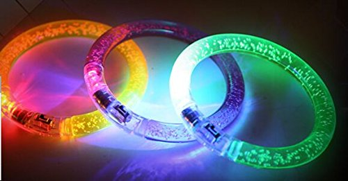 Preisvergleich Produktbild Led Armbänder im 3er Set mit Farbenwechsler Partyartikel - Tinas Collection - das etwas andere Design