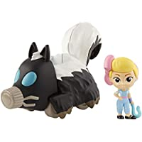 Disney Pixar GCY62 Toy Story 4 Bo Peep Mini Figure and Skunkmobile Vehicle, Compact for Home and On-The-Go Play