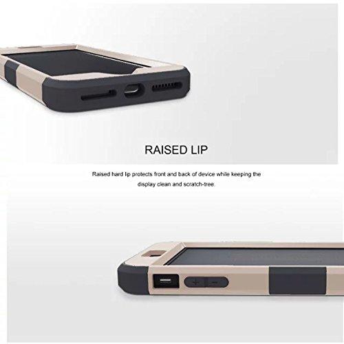iPhone 7 plus hülle, Lantier 3 in 1 [weicher harter Tough Case] [Anti Scratch] [Stoßdämpfung ] Leichte Schlank Voll Body Armor Schutzhülle für iPhone 7 Plus (5,5 Zoll) Mint Green + Grau Light Gold+Black