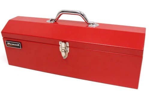 Homak RD00119200 19-Inch Steel Hip-Roof Tool Box, Red by Homak Manufacturing -