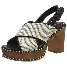 Tamaris Women's 1-1-28323-24 Heeled Sandal, White Comb, 4 UK