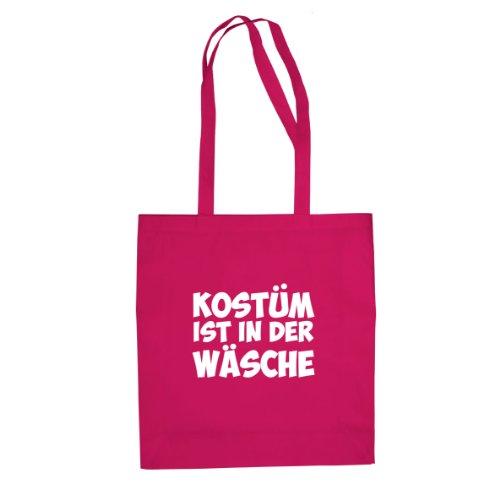 Kostüm ist in der Wäsche - Stofftasche / Beutel Pink
