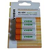 4 batteries Ni-MH Longlife 2000mAh (1.2V)pour télécommande, téléphoner... Fujifilm FinePix S4500, S4600, S4700, S4800, S5100, comme AA, Mignon HR6 LR6