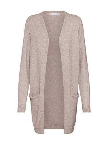 ONLY NOS Damen ONLQUEEN L/S Long Cardigan KNT NOOS Strickjacke, Mehrfarbig (Beige Detail: W. Melange), Large (Herstellergröße: L)