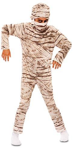 Toycruis costume di carnevale o da halloween da bambino da mummia tuta intera elasticizzata stampata con copricapo taglia da 4 a 6 anni