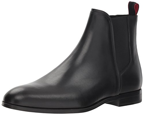BOSS Hugo Herren Leather Boot Boheme Leder Chelsea Stiefel, schwarz, 41 EU