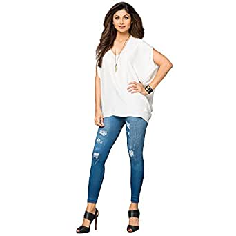 SSK Slim Shape Jeans (Jeggings) - Pack of 3 (Blue and Black) Amazon.in Clothing u0026 Accessories
