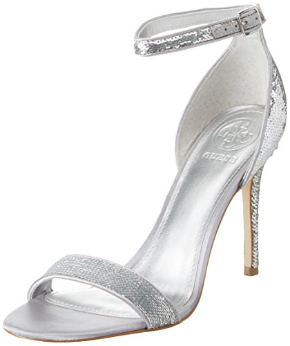 Guess Damen Footwear Dress Sandal Riemchen Pumps, Argento (Argento), 35 EU Guess Pumps Silber
