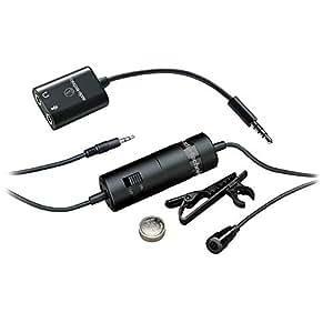 Audio-Technica ATR3350 Micro-cravate à électret omnidirectionnel Noir