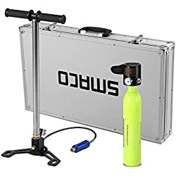Festnight Compresseur à Haute Pression de respirateur de Plongeur de Bouteille d'oxygène de plongée 0.5L avec Le Cas d'alliage