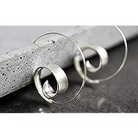 925 Sterling Silber Spiral Ohrringe BRUNEI | Boheme-Stil | Geschenkverpackung Schmuckschachtel | tolle Geschenkidee