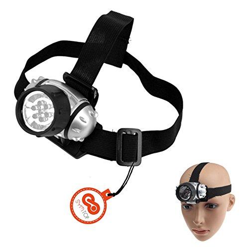 7 LED Outdoor Scheinwerfer, Kopflampe, Stirnlampe, 4 Modi für Wandern Radfahren Angeln Camping Klettern
