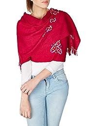 rouge violet tie dye indien main volé accessoires de laine cadeaux de Noël pour maman 24x70 pouces