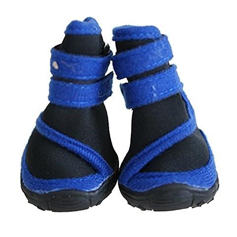 Wasserdichte Hunde-Schuhe für Regenwetter Pfotenschutz Walker Schuhe Hausschuhe Anti Rutsch Socken