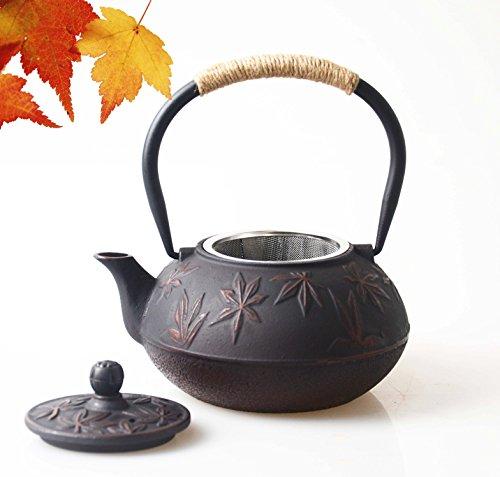 Hwagui teiera in ghisa giapponese te bollitore con filtro per fornello 0,8 litro/800ml, rosso