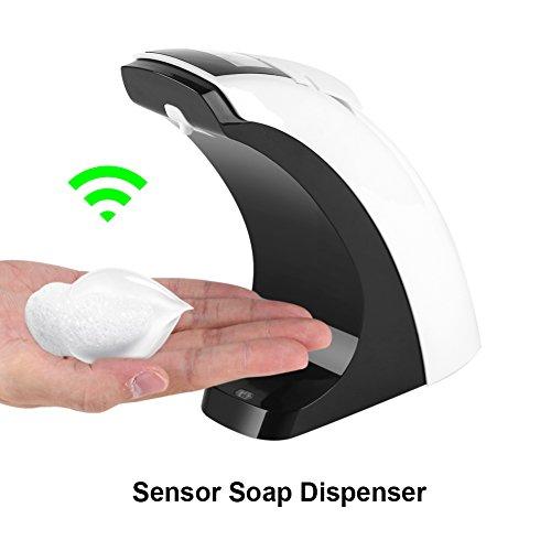 Fdit Dispensador de Jabón de Baño Sensor Automático Gel de Ducha Cocina Desinfectante con Pantalla LCD 300ml Socialme-eu