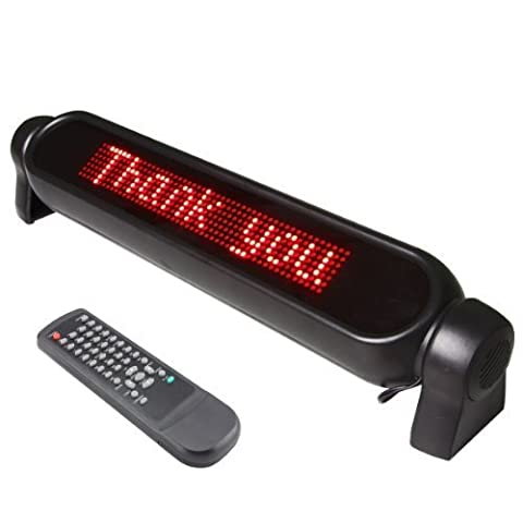 12V Digital Car LED light Message Moving Scrolling Sign Display