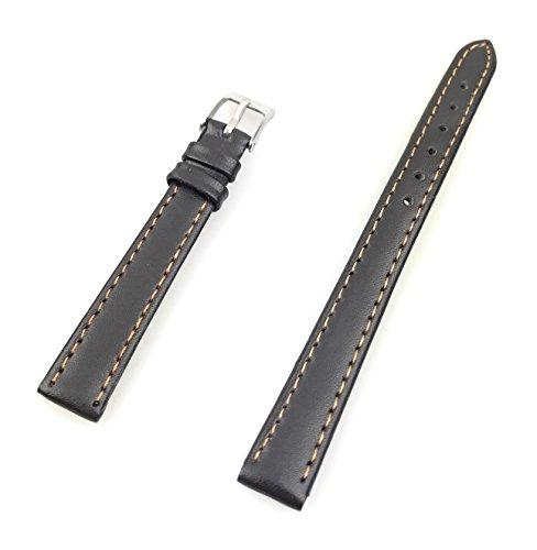 Uhrenarmband aus echtem Leder 12 mm Braun Glatt - 12mm Uhren Armband
