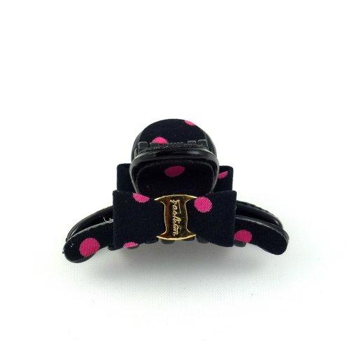 rougecaramel - Accessoires cheveux - Pince cheveux mini pince crabe à pois - noir