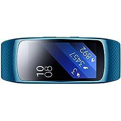"""Samsung Gear Fit 2 - Pulsera de fitness de 1.5"""" (4 GB, 512 MB de RAM, talla L), color azul"""