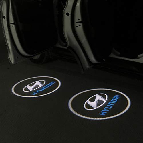 MIVISO 2 Pezzi Universale Auto Proiettore Logo Luce Ghost Shadow Emblems illuminazione senza fili Lampada benvenuto LED Luce di cortesia