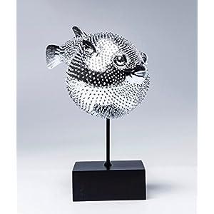 Kare Design Dekofigur Blowfish, Silbernes Accessoire in Form eines Kugelfisches, auffällige und Niedliche Dekoration Figur in Chrom, (H/b/T) 29 x 24 x 16 cm