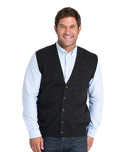 WoolOvers Weste aus Lammwolle für Herren Charcoal, M