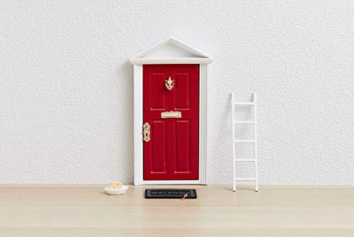  Ratoncito Pérez : Puerta Mágica Roja + Escalera + Plato + QUESO + Felpudo + Llave + Dibujo Fondo de Puerta + Postal de Felicitación+ dibujo para anotar y pintar las fechas de los dientes caídos