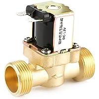 Akozon 12V Válvula de solenoide de latón G3 / 4 N/C Válvula eléctrica de agua de alimentación normalmente cerrada Válvula reguladora de presión de 2 vías