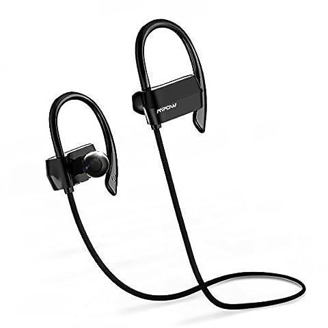 Mpow Running Headphones [Ultra Light] Wireless Running Earphones Over-Ear Headset for Running with Mic for (2 Descrizione Pulsante)