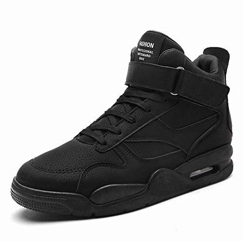 Männer Wanderschuhe, Outdoor Warm Ankle Boots Wasserproof Trainer Hiking Boots Hi-Top Sneakers Running Shoes,Black,41EU -