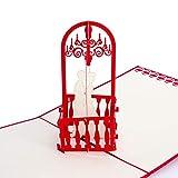 """3D Verlobungskarte """"Braut Altar"""", Ideal zur Verlobung, Hochzeit, als Partner Geschenk, zum Jahrestag, als Glückwunschkarte oder Geldgeschenk, Pop Up Karte, Karte wird mit Umschlag und Folie geliefert"""