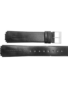 Uhrenarmband für Skagen 433L Leder schwarz Montage mit Schrauben Ersatzband