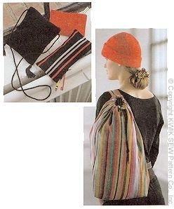 Kwik Sew Cap Purse Cases & Hair Scrunchy Learn to Sew Pattern By The Each by Kwik Sew