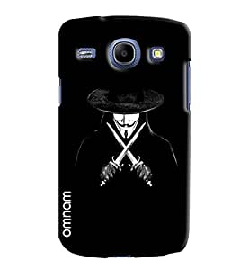 Omnam Evil In Black Laughing Printed Designer Back Cover Case For Samsung Galaxy Core i8262