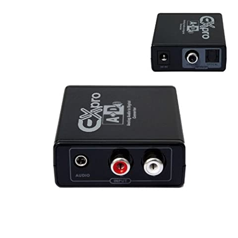 Ex-Pro® AV-Pro Analogue Stereo Audio to SPDIF Digital Converter [Stereo Left/Right RCA Phono to SPDIF TOSlink/Coaxial]