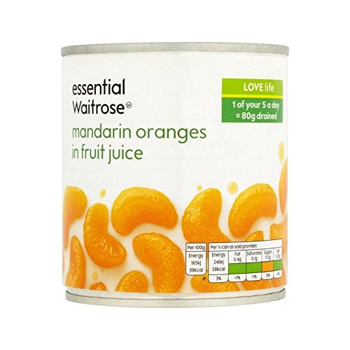 Mandarines Dans Le Jus De Fruit Essentielle 295G De Waitrose - Paquet de 2