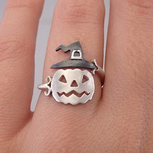 FQYYDD 1 stücke Trendy Unisex Einstellbare Kupfer Ringe Halloween Hut Kürbis Geist Finger Ring Nette Frauen Öffnen Ringe Partei Schmuck