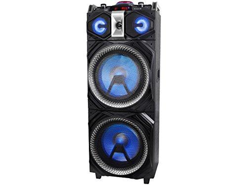 Trevi XFEST XF 4000 DJ Altoparlante Amplificato con Effetti DJ, Mp3, USB, Bluetooth, Aux-In, e Batteria Integrata, Karaoke Party Speaker con Microfono Wireless Senza Fili Incluso