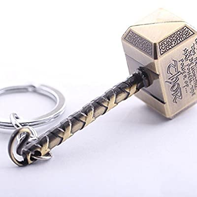 Marvel N10BD Avengers Thor's Hammer Large Pewter Keyring : everything five pounds (or less!)