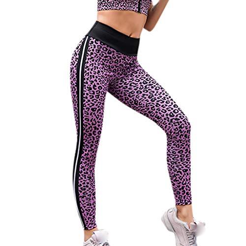 Leggings Mujer Largo Deportivas Leggins Yoga Pantalones para Mujer,Mujeres Alta Cintura Yoga Leopardo Ala Impresión Legging Running Deportes Pantalones Pantalón