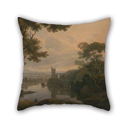 Slimmingpiggy Ölgemälde George Barret–River Landschaft Kissen 40,6x 40,6cm/40von -